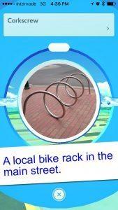 Pokemon Go Local Bike Rack