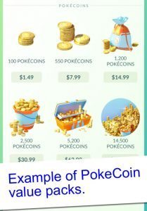 Pokemon GO Coin Packs