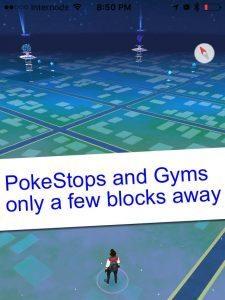 Pokemon Go PokeStops on Map