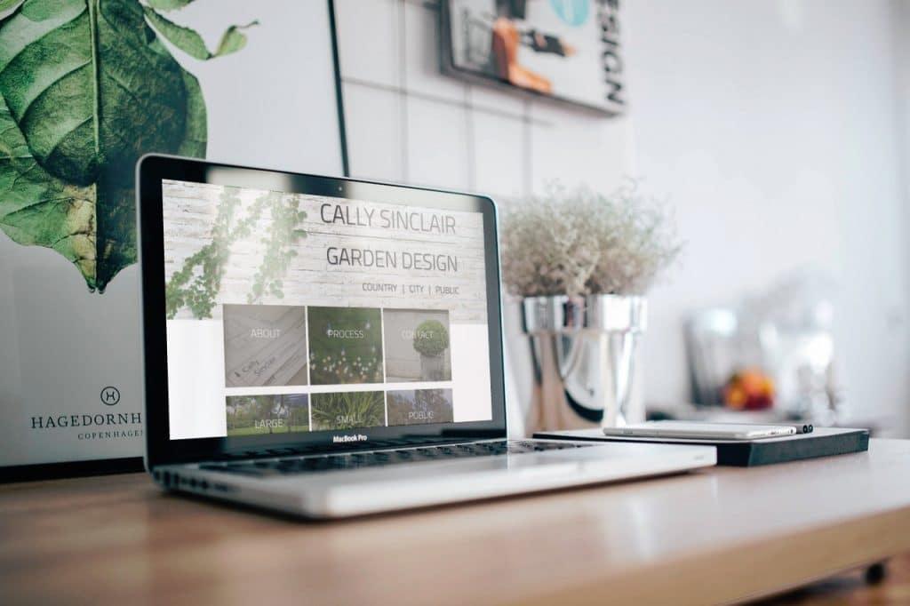 Cally Sinclair Garden Design on Laptop 02